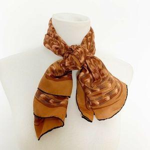 Accessories - Vtg Tan Silk Aztec Southwestern Square scarf